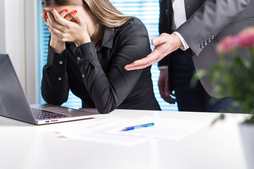 Upset Woman at Work Sexist at Work