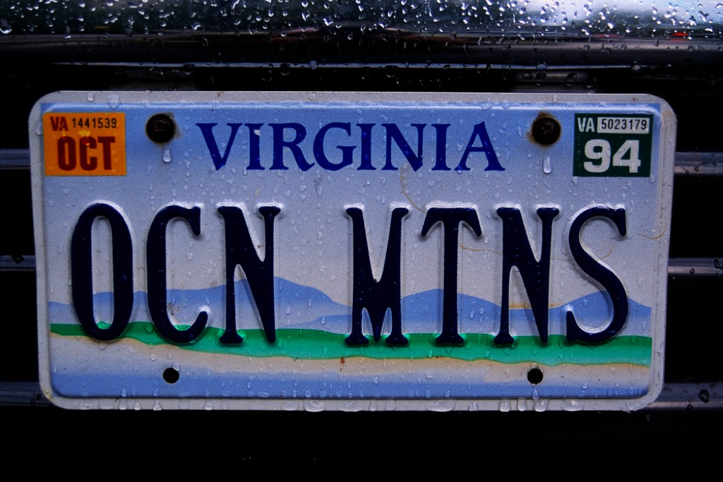 Virginia license plate weird state facts