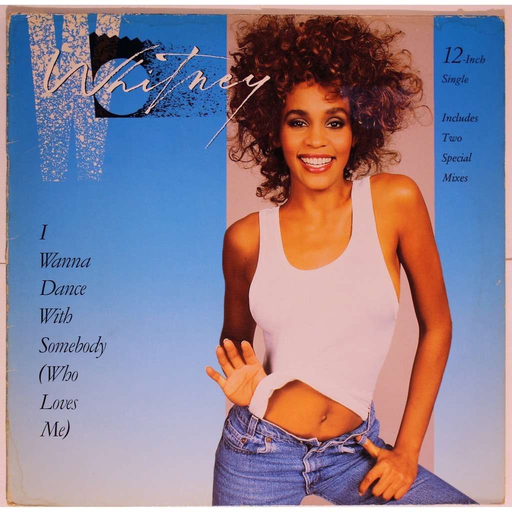 """Whitney Houston """"I Wanna Dance With Somebody (Who Loves Me)"""" single cover"""