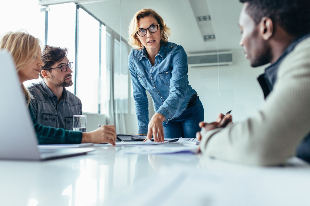 Woman Leading Business Meeting Sexist at Work