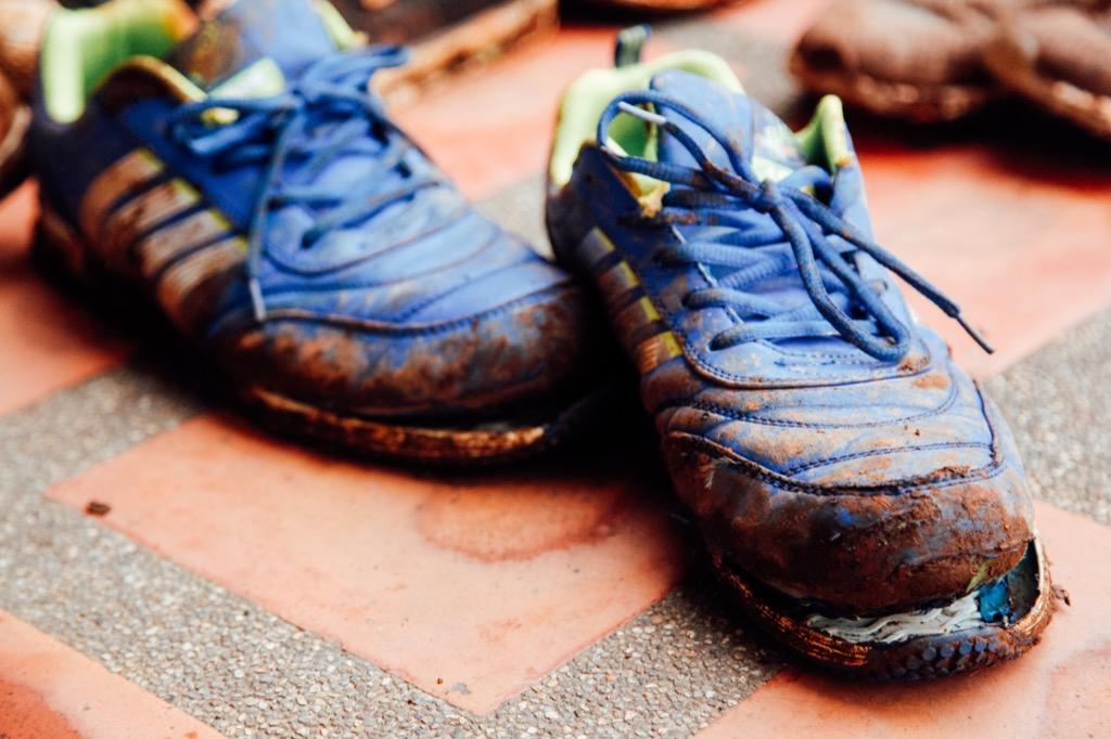 ruined running shoes corny jokes