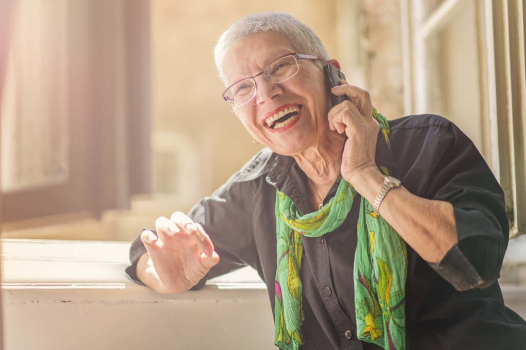 mother receiving phone call, etiquette mistakes