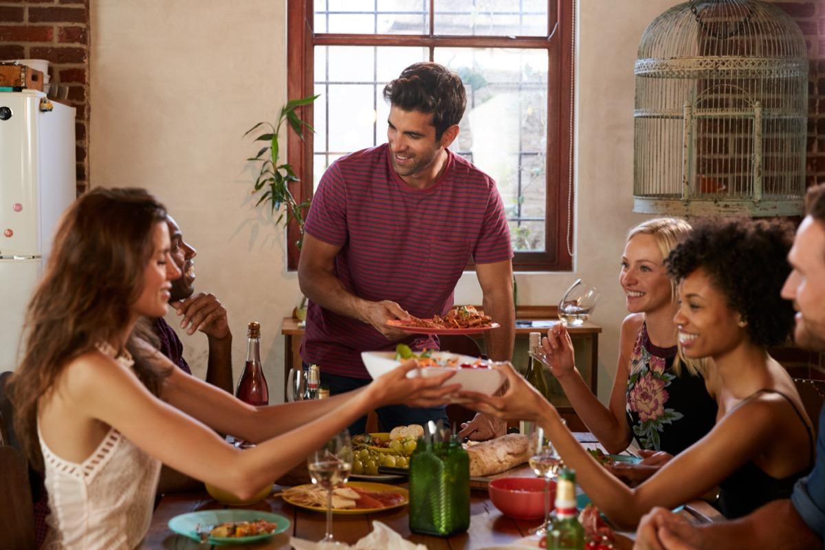 Party Host Serving Food Social Etiquette Mistakes