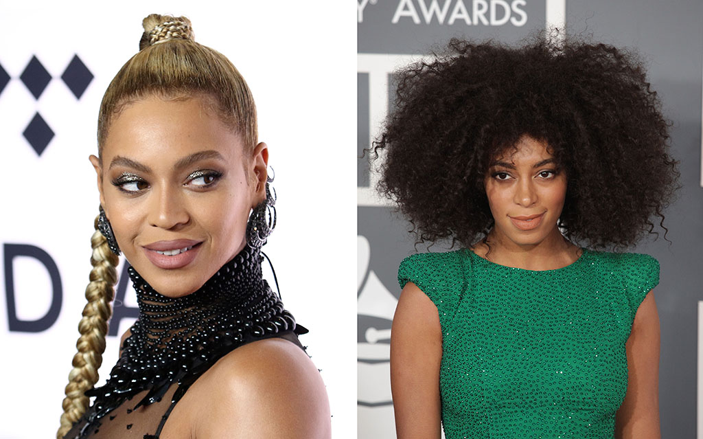 Beyonce and Solange Celebrity Siblings