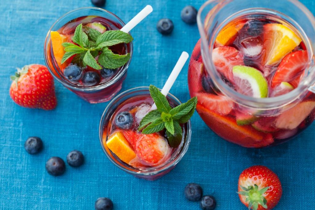 sangria health tips