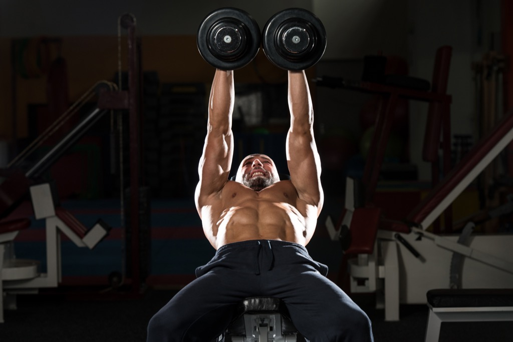 Incline dumbbell press Exercises for Adding Muscle