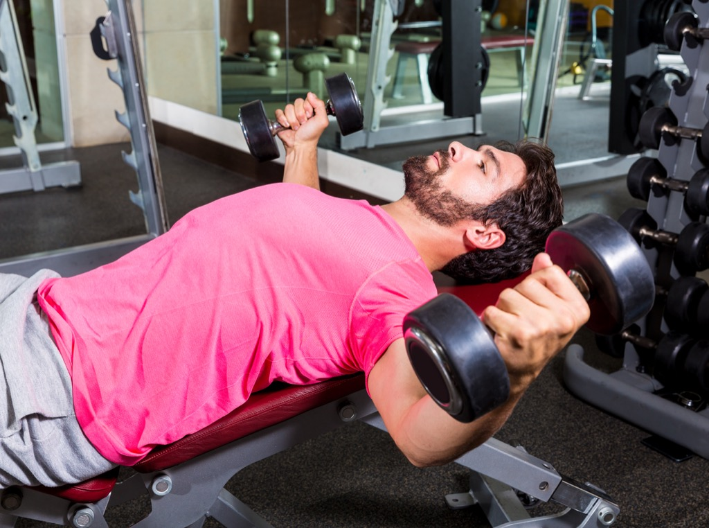 dumbbell flye Exercises for Adding Muscle