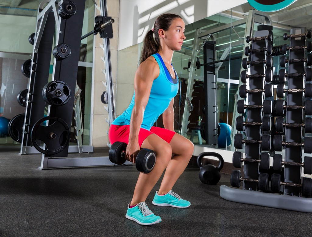 Dumbbell squat Exercises for Adding Muscle