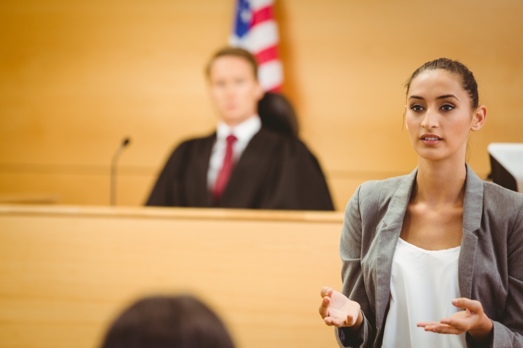 female lawyerThings Said in Court