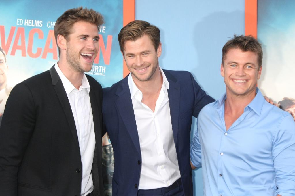 Chris, Liam and Luke Hemsworth Celebrity Siblings