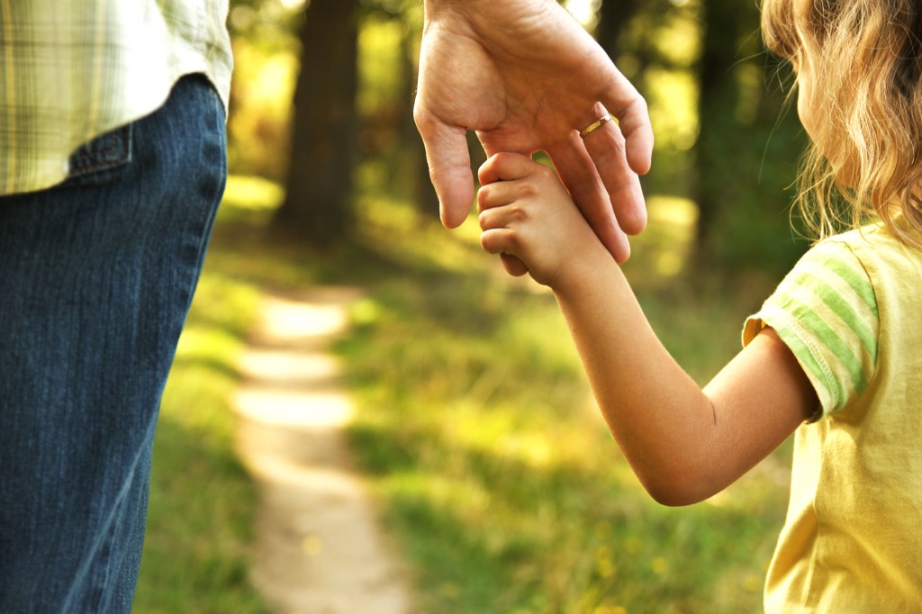 father and daughter holding hands Facts About Millennials