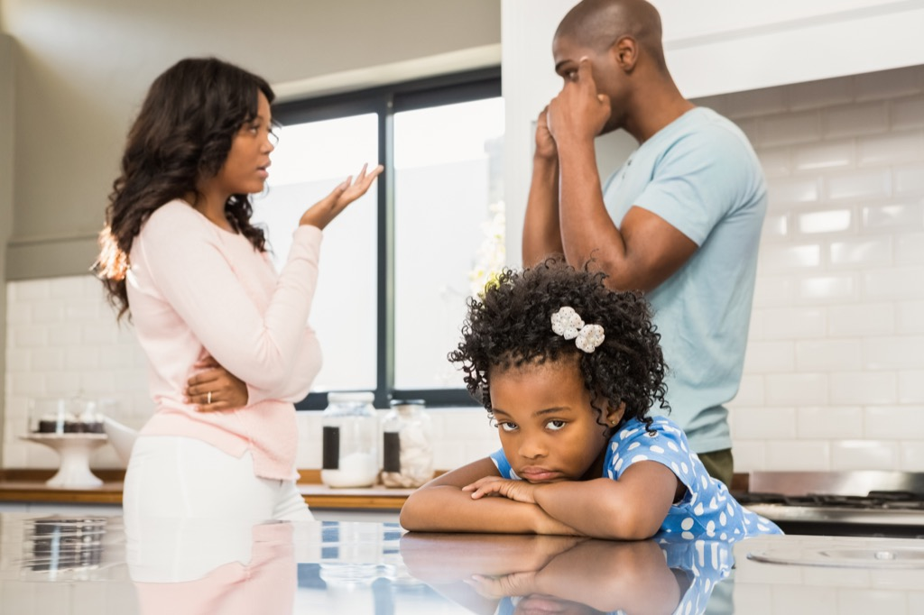 little girl with fighting parents Moms Should Never Say
