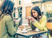 Women on smartphones Facts About Millennials