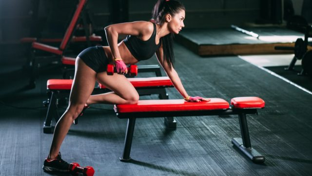 dummbell row Exercises for Adding Muscle