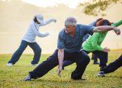 older people practice tai chi