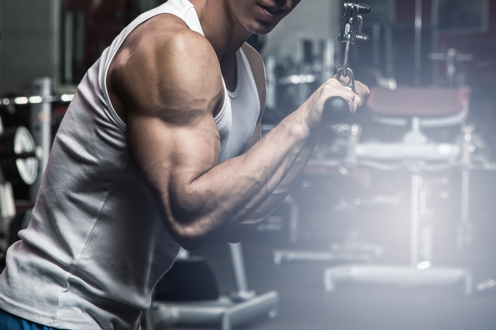 Cable pushdown Exercises for Adding Muscle