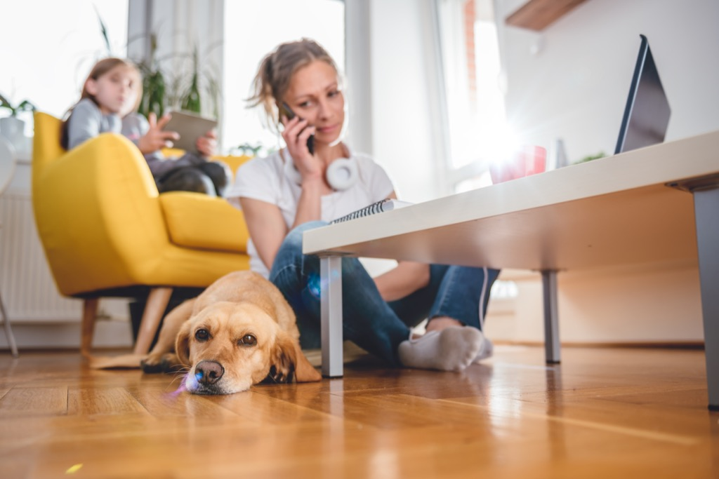 mom with daughter and dog Moms Should Never Say