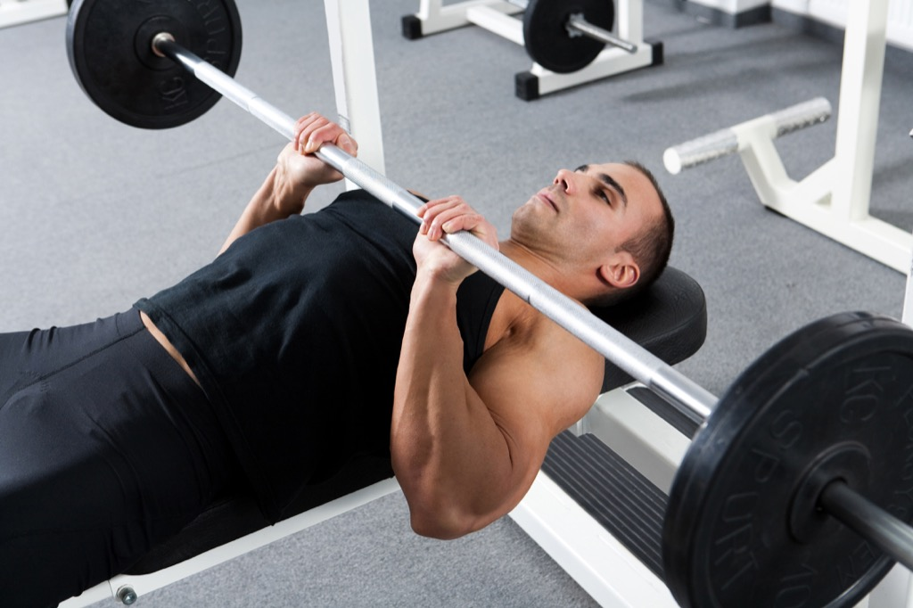 Close-grip bench press Exercises for Adding Muscle