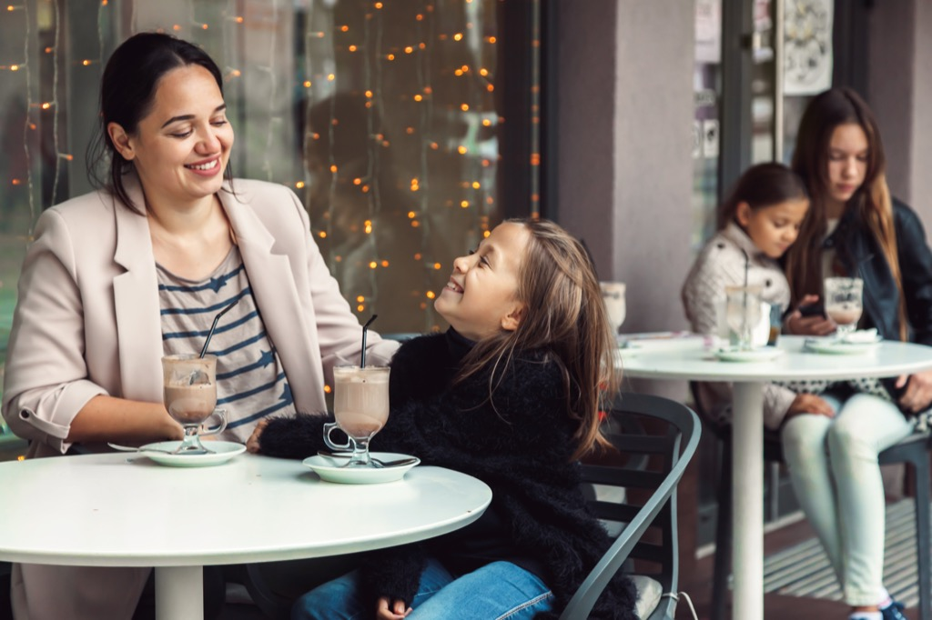mother and daughter at cafe Moms Should Never Say