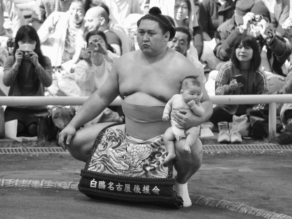 Sumo Wrestler with Child Amazing Facts