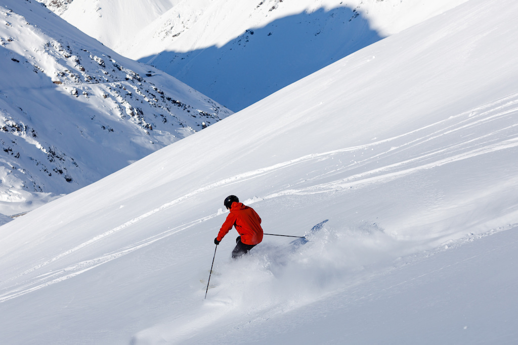 skiing andes