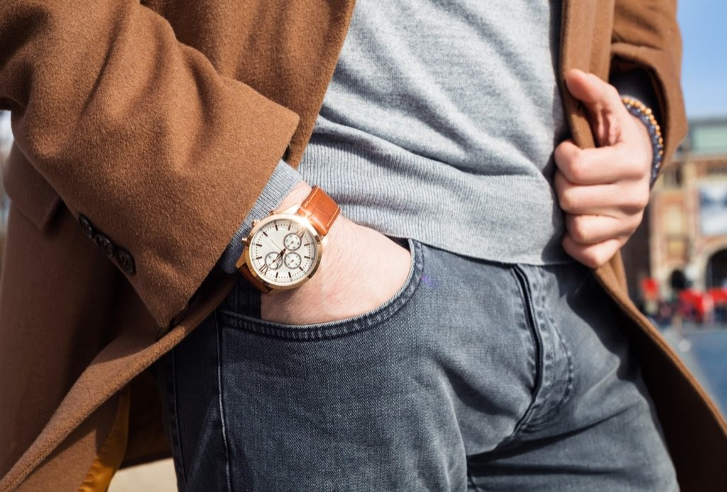 man wearing vintage watch, look better after 40