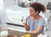 woman on disgusting diet