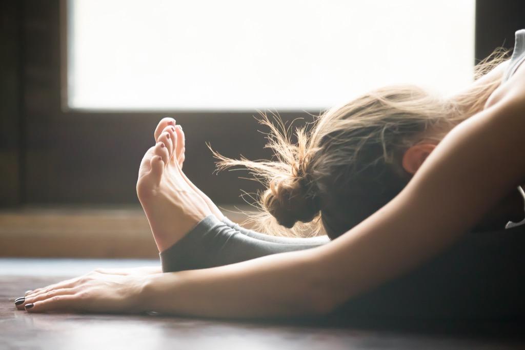 woman stretching perfect nap