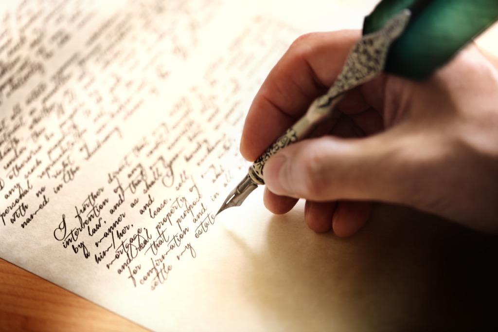 writing letter cursive penmanship