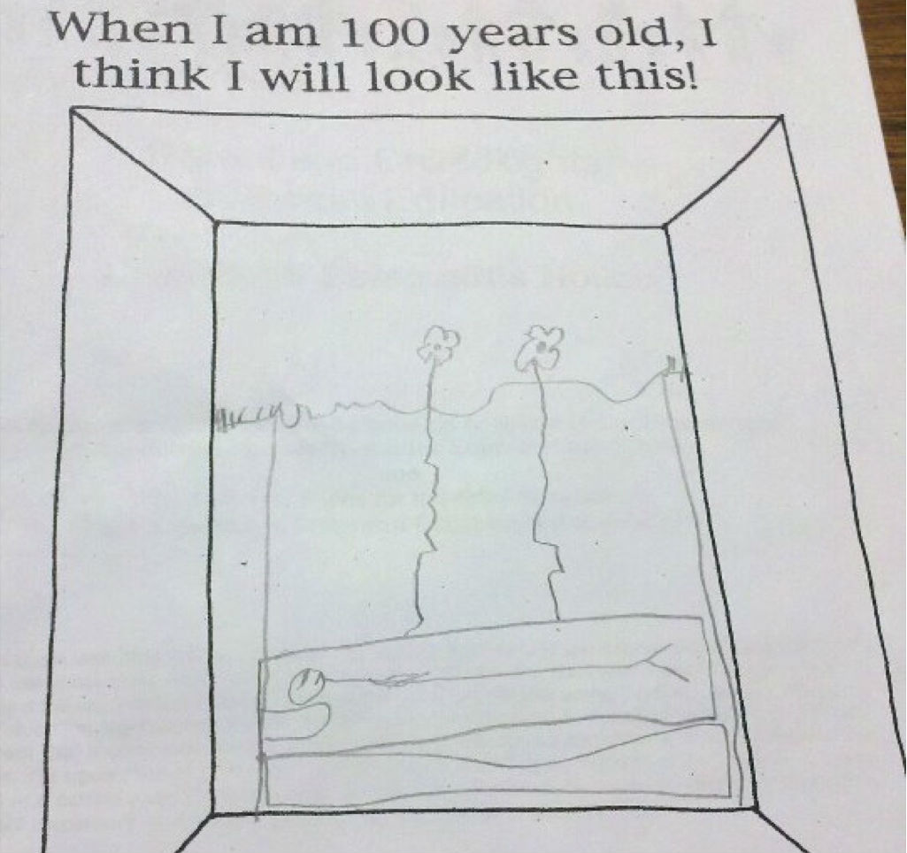 100 years old funny kid's assignments