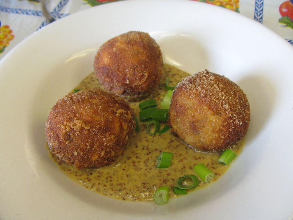 Boudin balls, Elizabeth's Restaurant local favorites