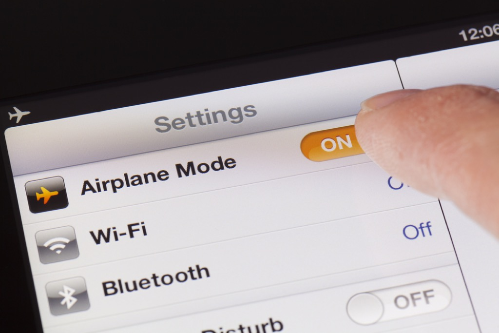 airplane mode self-care tips