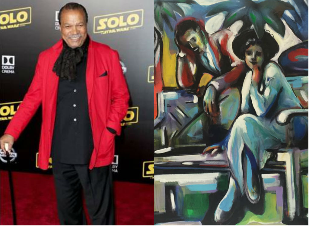 Billy Dee Williams painting