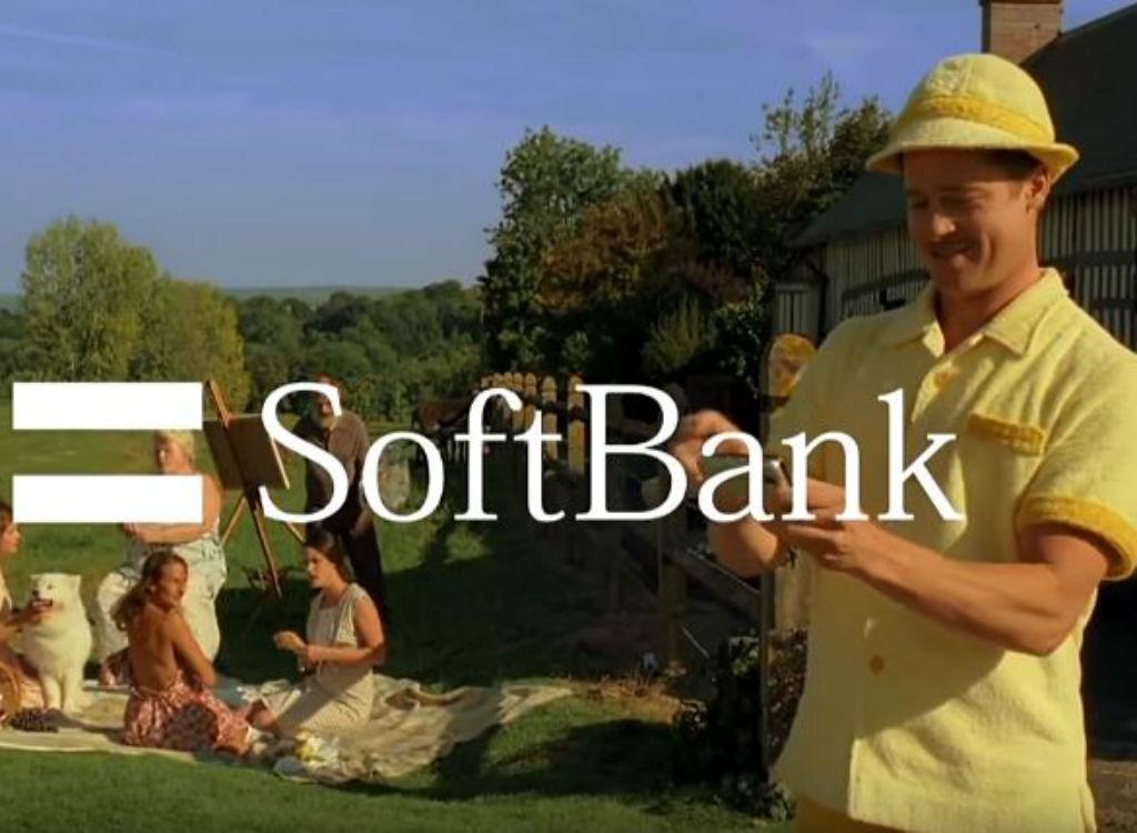 Brad Pitt SoftBank celebrity endorsements