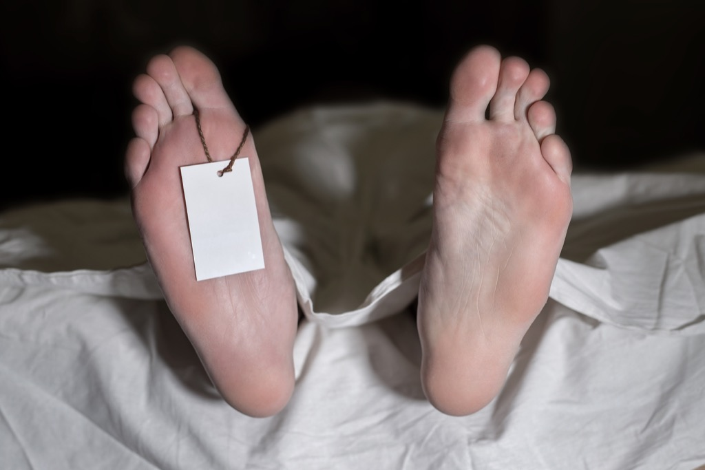 Dead Man in Morgue Facts about Life