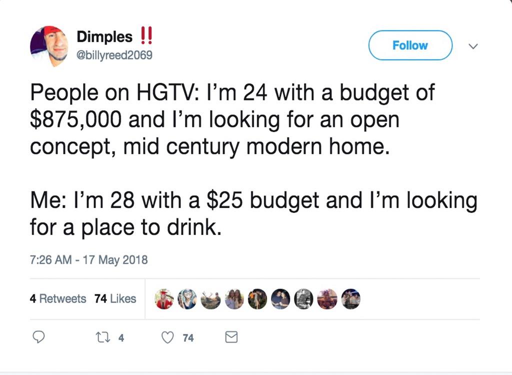 HGTV budget funniest home design show jokes