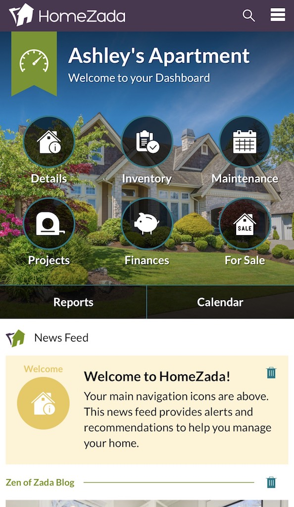 HomeZada Apps organizer apps
