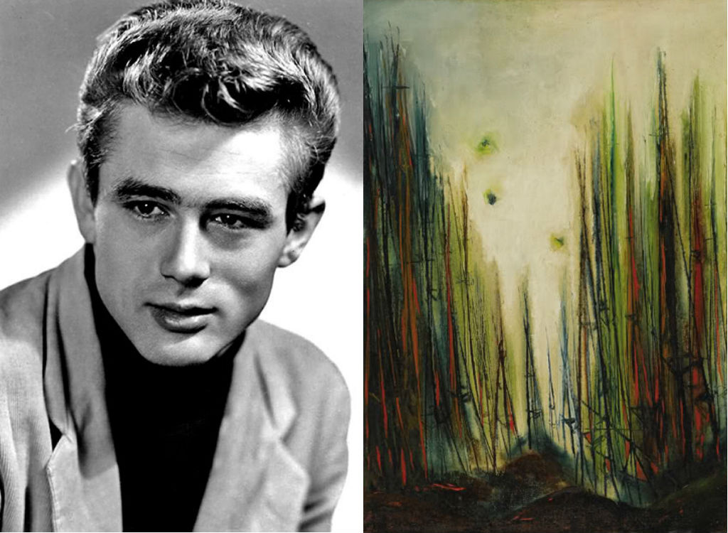 James Dean painting