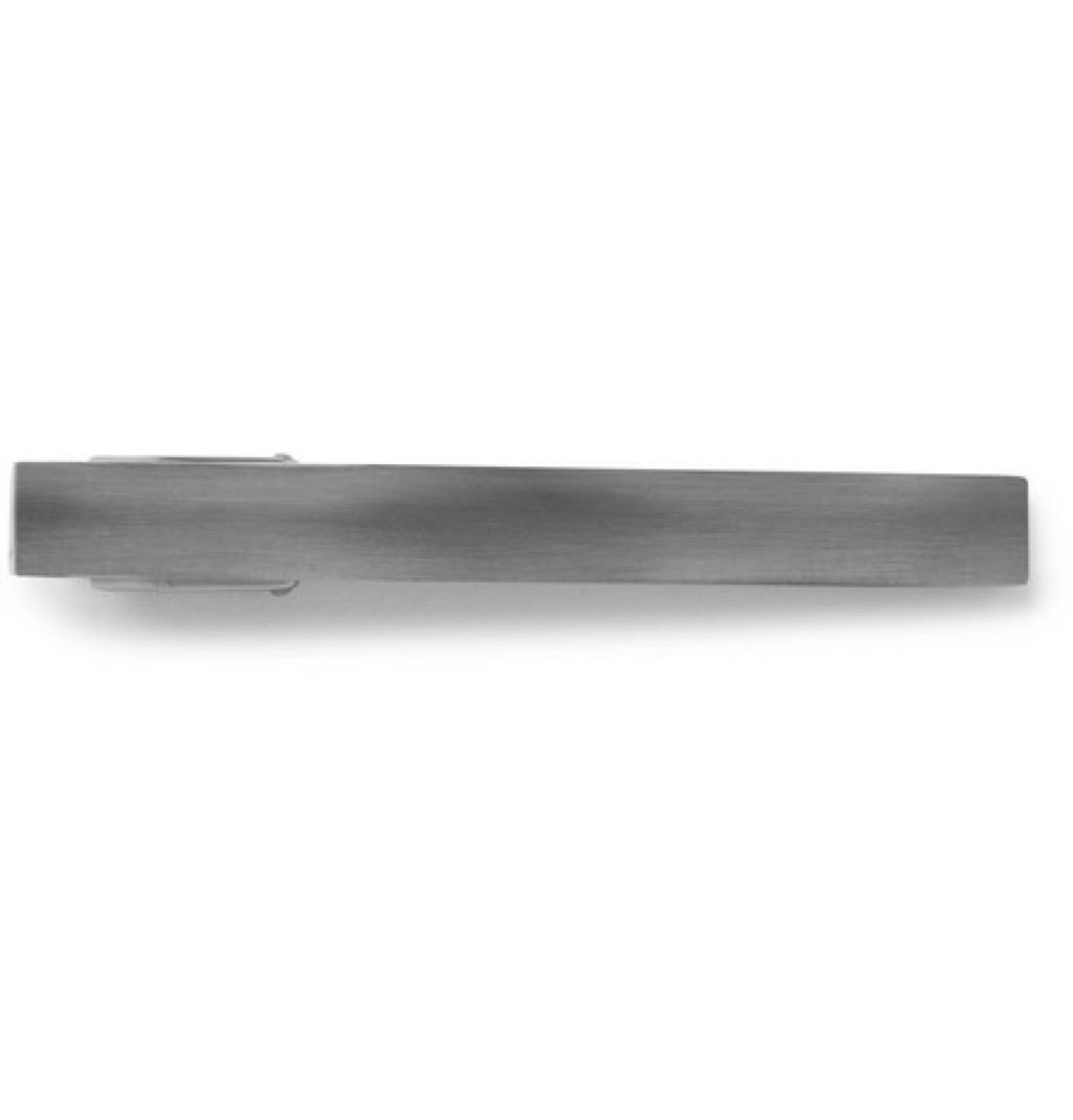 LANVIN Ruthenium-Plated Tie Clip