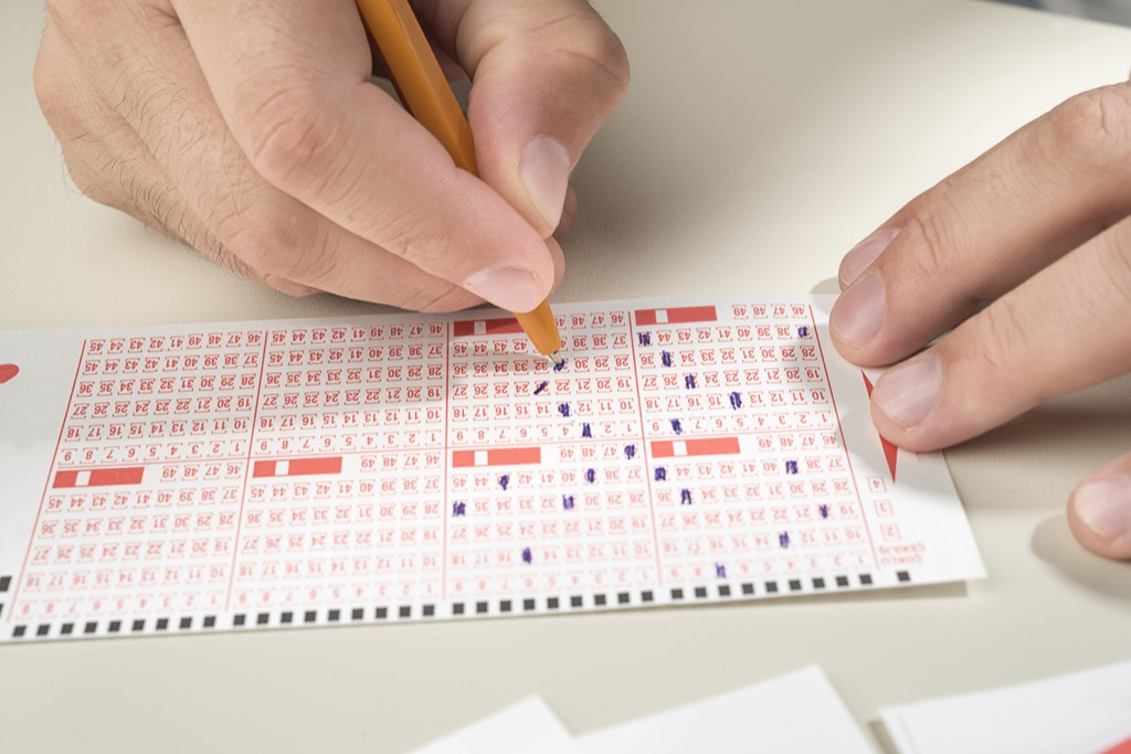filling out lottery ticket, facts about the lottery