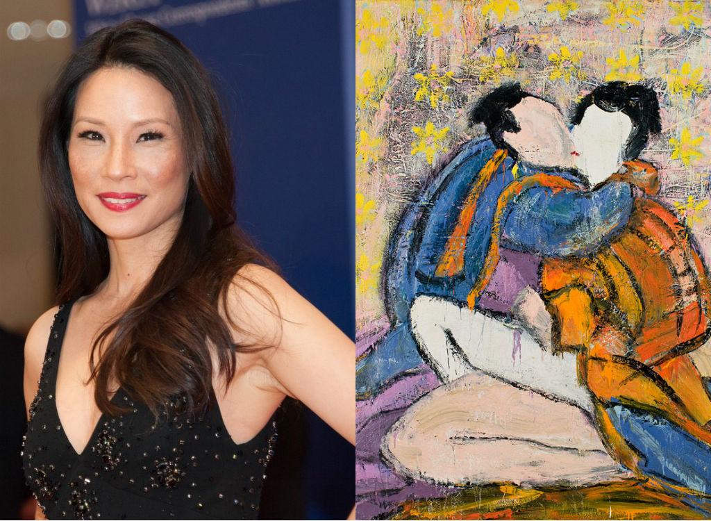 Lucy Liu Painting