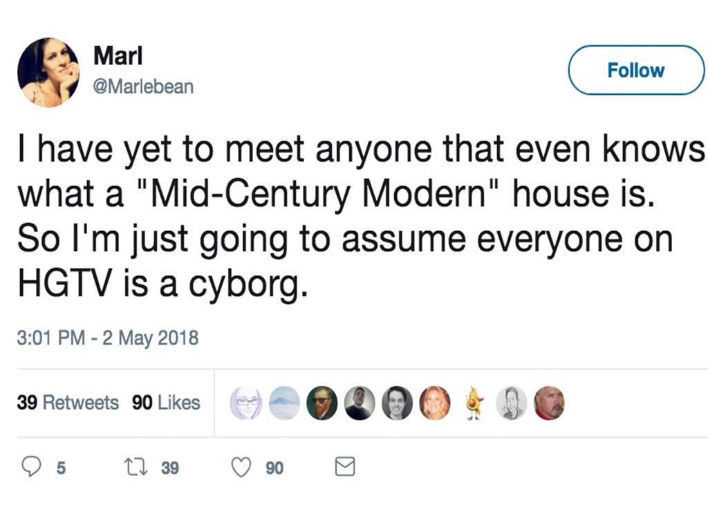 Mid-century modern funniest home design show jokes