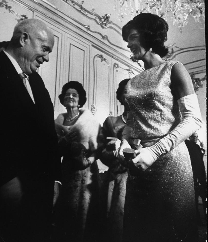 Nikita Khrushchev and Jackie Kennedy Kennedys