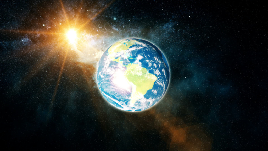 Planet Earth with Sun Planet Earth Facts