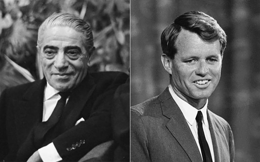 Aristotle Onassis and Bobby Kennedy