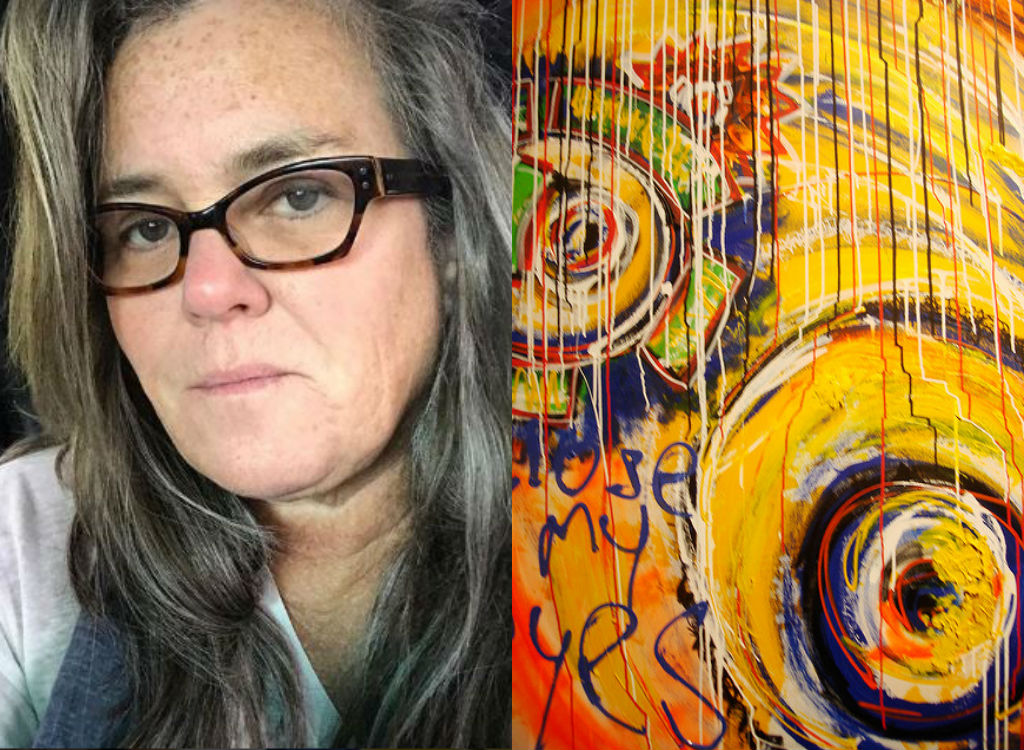 Rosie O'Donnell painting