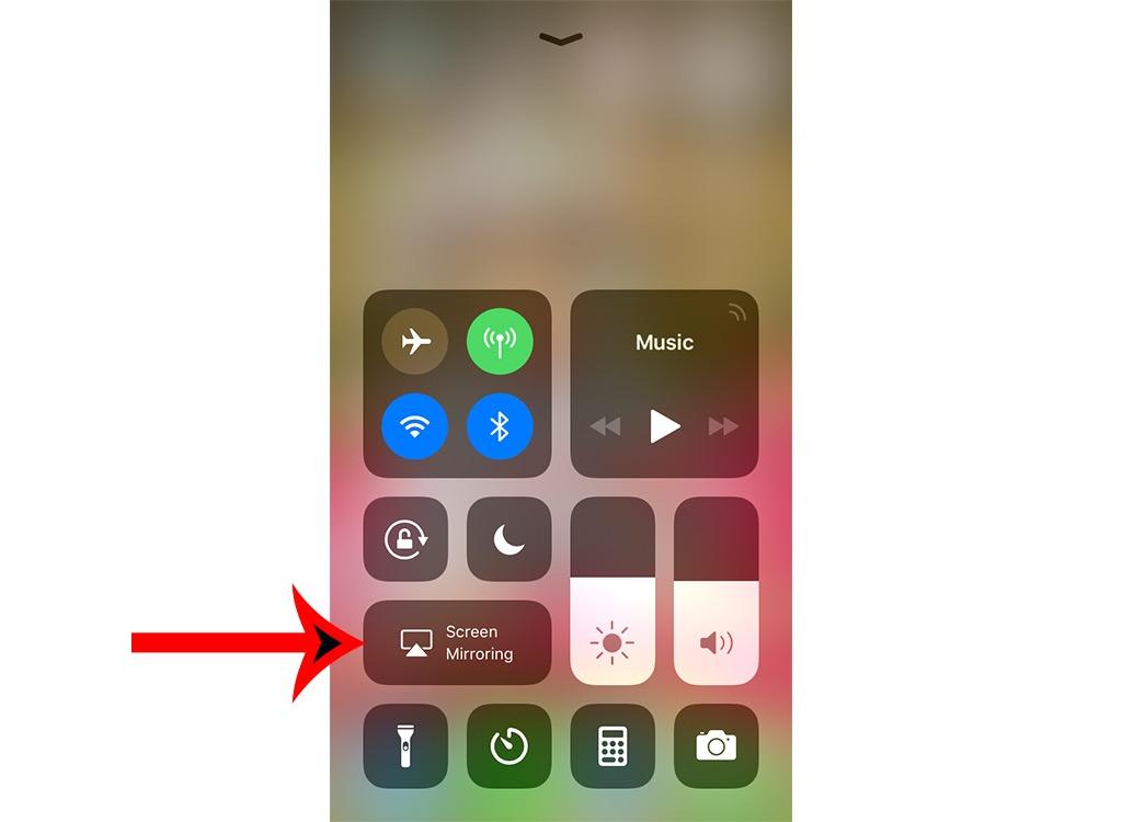 iPhone screen mirroring