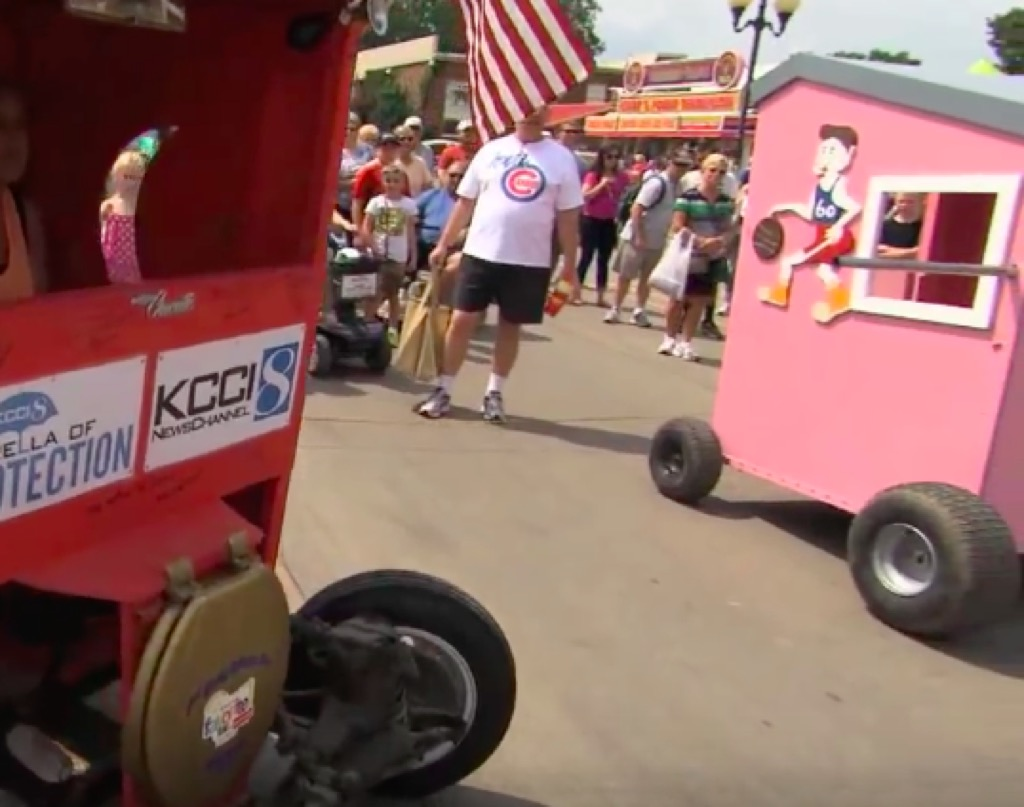 Outhouse races at Iowa State Fair