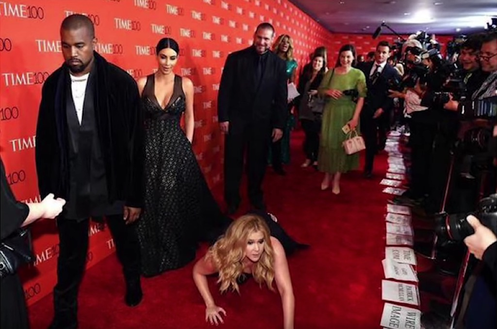 Amy Schumer Bowing Down to KimYe