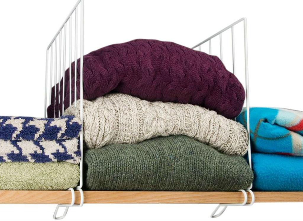 Shelf dividers closet organizing tricks